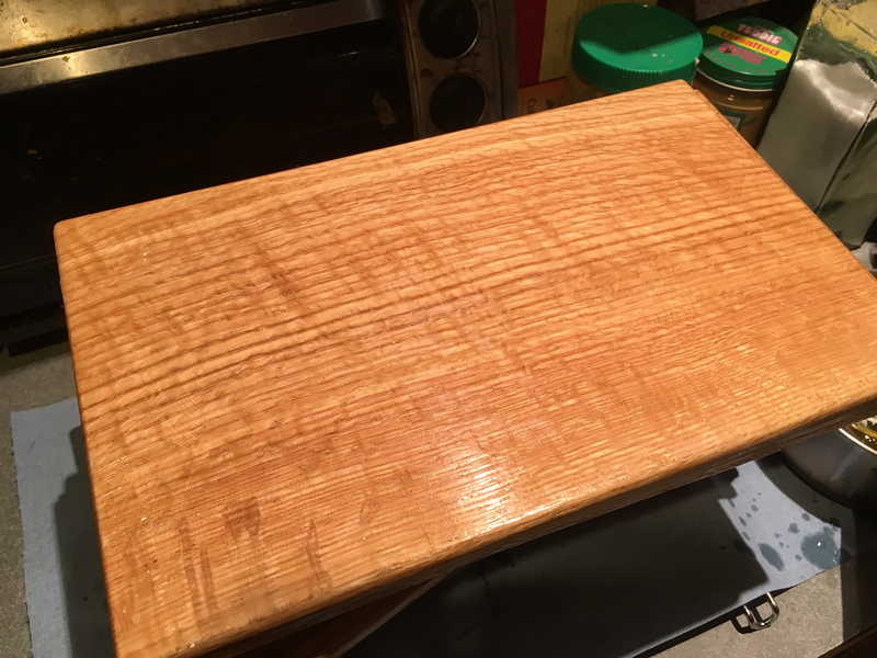 10 Red Oak Freshly Covered With Mineral Oil And Beeswax